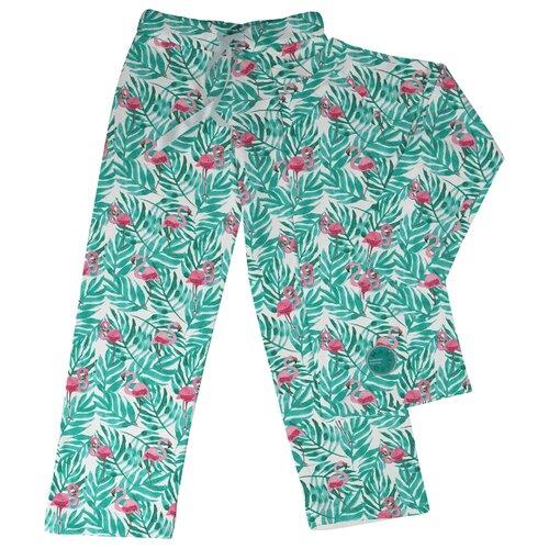 Пижама Marengo Textile размер 152, зеленый/белый/розовый платье oodji ultra цвет красный белый 14001071 13 46148 4512s размер xs 42 170