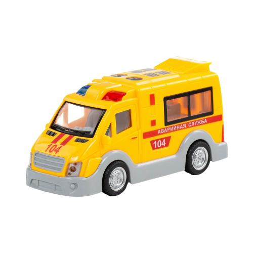Купить Микроавтобус Полесье Аварийная служба (79695) 17.5 см желтый, Машинки и техника