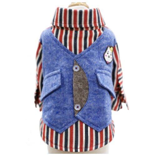 Рубашка для собак NICOVAER с жилетом M синий