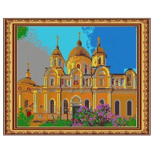 Светлица Набор для вышивания бисером Покровский монастырь 30 х 24 см, бисер Чехия (503П)