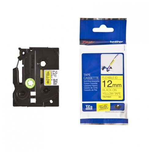 Фото - Картридж для принтера этикеток Brother, арт. TZe-FX631 (12x8 мм) картридж для принтера этикеток brother арт tze 253 24 мм