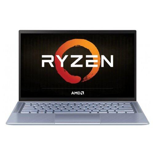 "Ноутбук ASUS ZenBook 14 UM431DA-AM003T (AMD Ryzen 5 3500U 2100MHz/14""/1920x1080/8GB/512GB SSD/DVD нет/AMD Radeon Vega 8/Wi-Fi/Bluetooth/Windows 10 Home) 90NB0PB3-M02140 серебристо-синий"