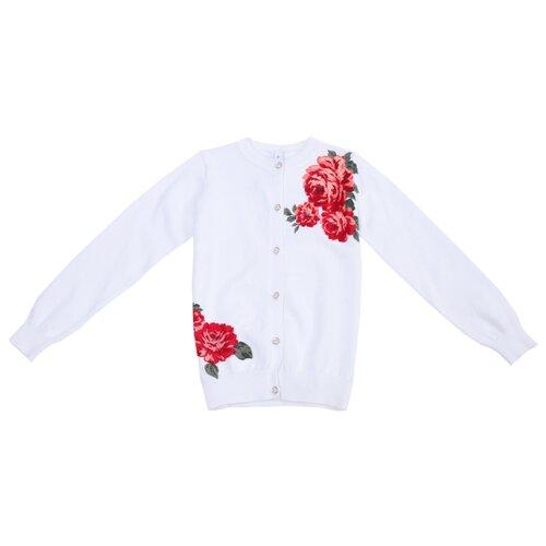 Купить Кардиган playToday размер 116, белый, Свитеры и кардиганы