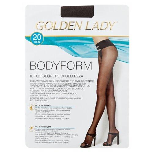 Колготки Golden Lady Bodyform 20 den, размер 4-L, fumo (серый) колготки golden lady bodyform 20 den размер 4 l nero черный
