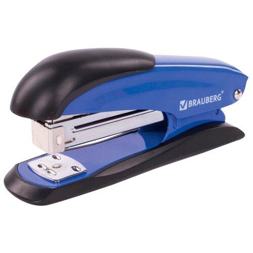 Купить BRAUBERG Степлер Office Expert для скоб №24/6 и 26/6 синий, Степлеры, скобы, антистеплеры