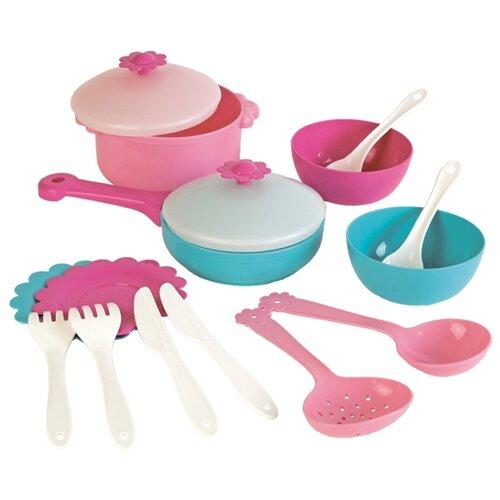 Купить Набор посуды Mary Poppins Зайка 39325 розовый/белый/голубой, Игрушечная еда и посуда