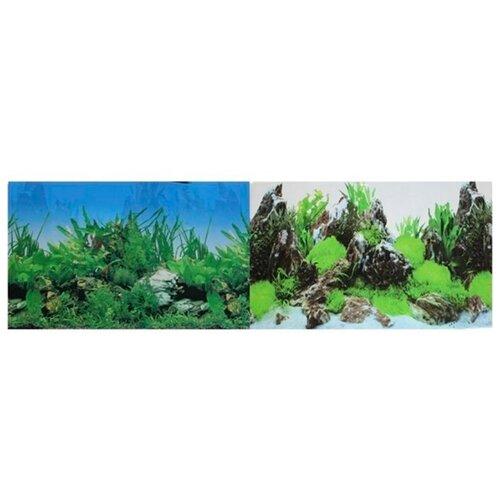 Пленочный фон Prime Растительный/Скалы двухсторонний 60х150 см