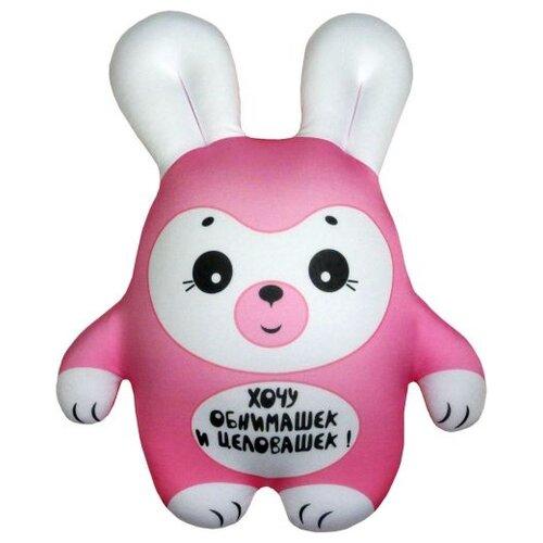 Игрушка-антистресс Штучки, к которым тянутся ручки Заяц розовый 22 см штучки к которым тянутся ручки игрушка для ванной колобашки зайчик
