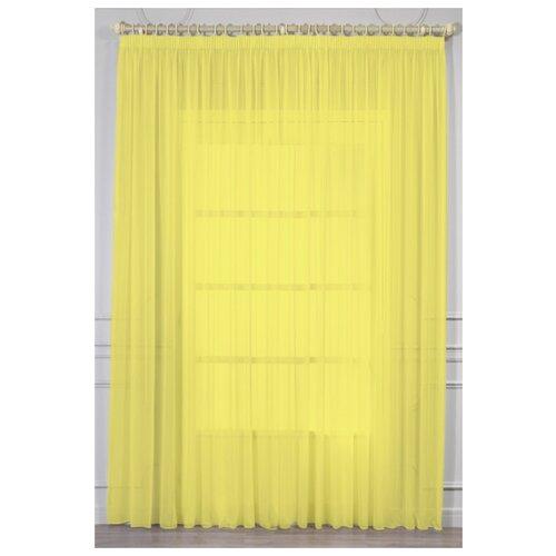 Тюль Amore Mio RR 109 на ленте 270 см 1 шт. желтый