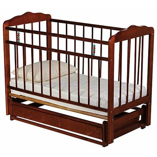 Кроватка ЧП Смирнов Женечка-6 (классическая), поперечный маятник вишня