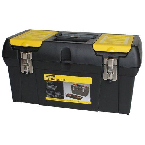 Ящик с органайзером STANLEY 1-92-066 48.9x26x24.8 см 19'' черный/желтый ящик с органайзером stanley jumbo 1 92 906 27 6x48 6x23 2 см черный желтый