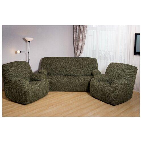 Чехлы без оборки на диван и 2 кресла