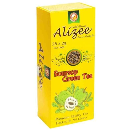 Фото - Чай зеленый Alizee Soursop в пакетиках, 50 г 25 шт. чай в пакетиках фиточаи байкальские женский лечебный с боровой маткой 20 шт по 1 5 г