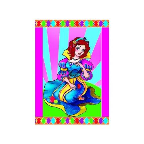 Фото - Гравюра Рыжий кот Принцесса, в пакете с ручкой (Г-9445) цветная основа гравюра рыжий кот зайчик в пакете с ручкой г 9449 цветная основа