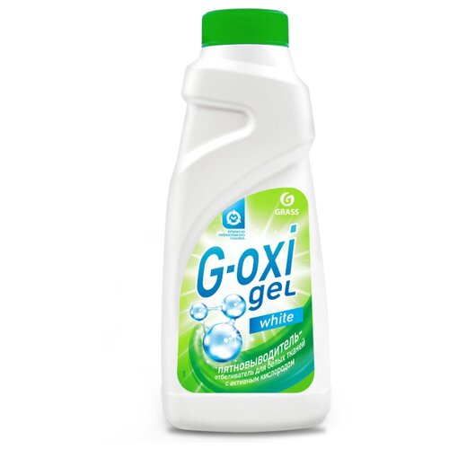 GraSS Пятновыводитель - отбеливатель G-OXI gel для белых тканей, 500 мл