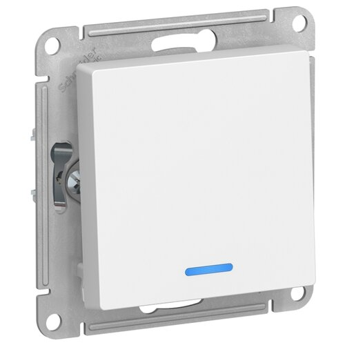 Выключатель 1-полюсный Schneider Electric ATN000113 AtlasDesign, 10 А, белый выключатель 1 полюсный schneider electric atn000211 atlasdesign 10 а бежевый