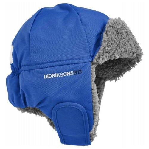 Купить Шапка-ушанка Didriksons размер 50, лазурный, Головные уборы