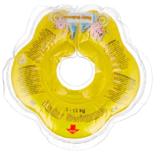 Купить Круг на шею Baby Swimmer 0m+ (3-12 кг) желтый, Круги на шею