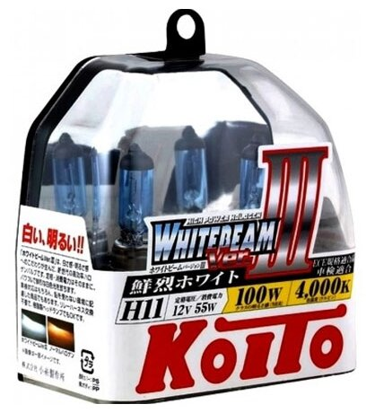 Автолампа Koito H11 WHITEBEAM III P0750W 2шт