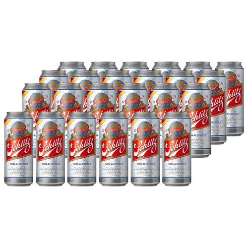 Пиво светлое Schlitz Alkoholfrei безалкогольное 0,5 л 24 шт
