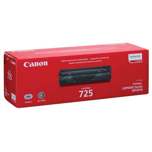 Картридж ориг. Canon 725 черный для Canon i-SENSYS LBP-6000/6020/6030/MF3010 (1600стр), цена за штуку, 151072