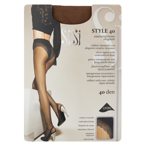 Фото - Колготки Sisi Style 40 den, размер 4-L, naturelle (коричневый) колготки sisi miss 40 den размер 4 l naturelle коричневый