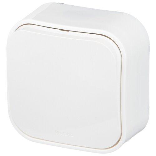 Выключатель 1-полюсный Legrand Quteo 782200,10А, белый
