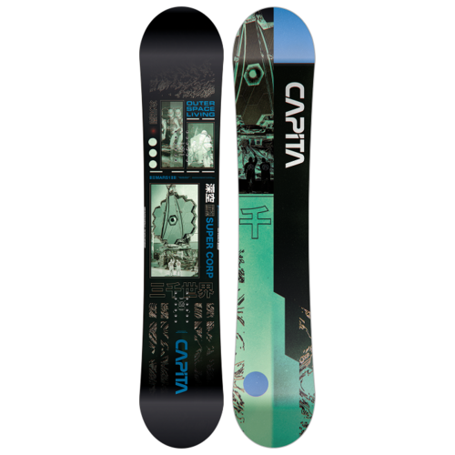 Сноуборд CAPiTA Outerspace Living (20-21) черный/зеленый/синий 158