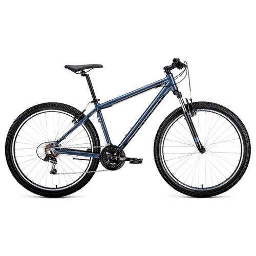 Фото - Горный (MTB) велосипед FORWARD Apache 27.5 1.0 (2020) серый/черный 17 (требует финальной сборки) горный mtb велосипед merida matts 7 20 2020 glossy purple lilac s требует финальной сборки