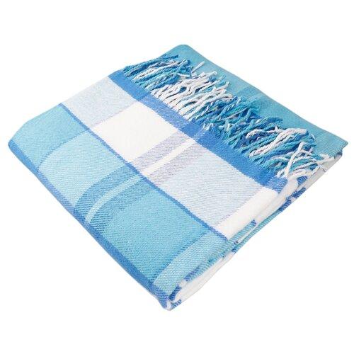 Плед ARLONI Эдинбург 140 х 200 см, голубой