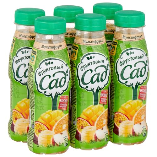 цена на Нектар Фруктовый сад Мультифрукт, в пластиковой бутылке, 0.3 л, 6 шт.