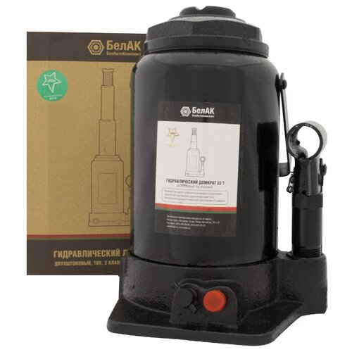 Домкрат бутылочный гидравлический БелАвтоКомплект БАК.20050 (32 т) черный домкрат бутылочный гидравлический белавтокомплект бак 10039 2 т черный