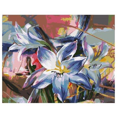 ВанГогВоМне Картина по номерам Голубая лилия, 40х50 см (ZX 21482) картина по номерам вангогвомне голубая ваза