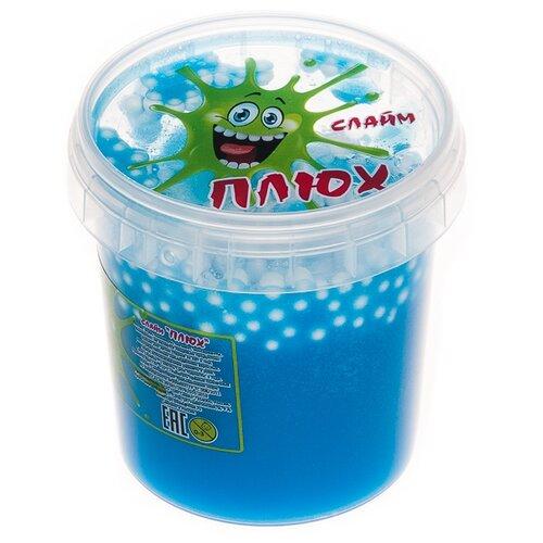 Лизун Плюх с шариками в тубе голубой