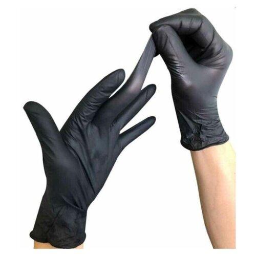 Фото - Перчатки одноразовые нитриловые черные Wally Plastic, размер M, 100 шт (50 пар). перчатки одноразовые нитриловые черные wally plastic размер m 100 шт 50 пар