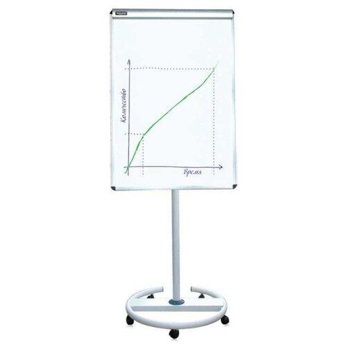 Купить Доска-флипчарт магнитно-маркерная BRAUBERG на колесах 231703 (100х70 см) белый/хром, Доски