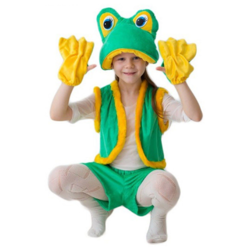 Купить Костюм Бока Лягушка Квакушка, зеленый, размер 104-116, Карнавальные костюмы