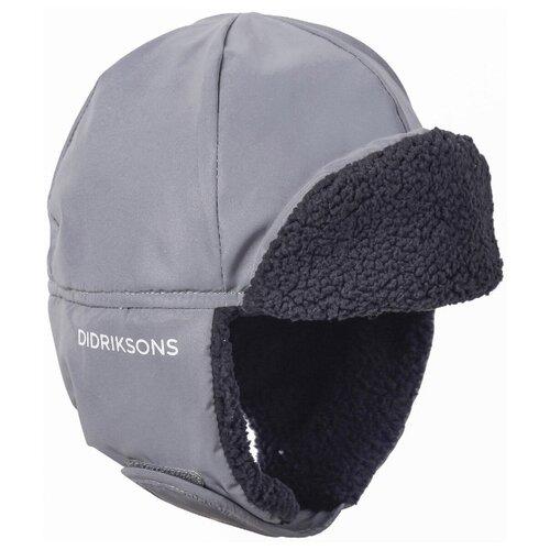 Купить Шапка-ушанка Didriksons размер 56, серебристый, Головные уборы