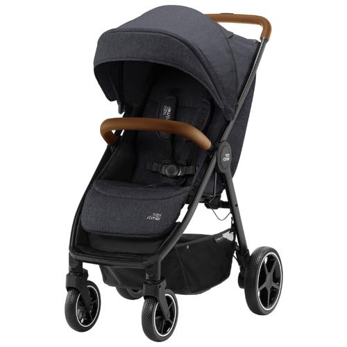 Прогулочная коляска BRITAX ROMER B-Agile R Black Shadow/Brown коляска britax детская прогулочная коляска britax b agile 4 plus с капором sand beige