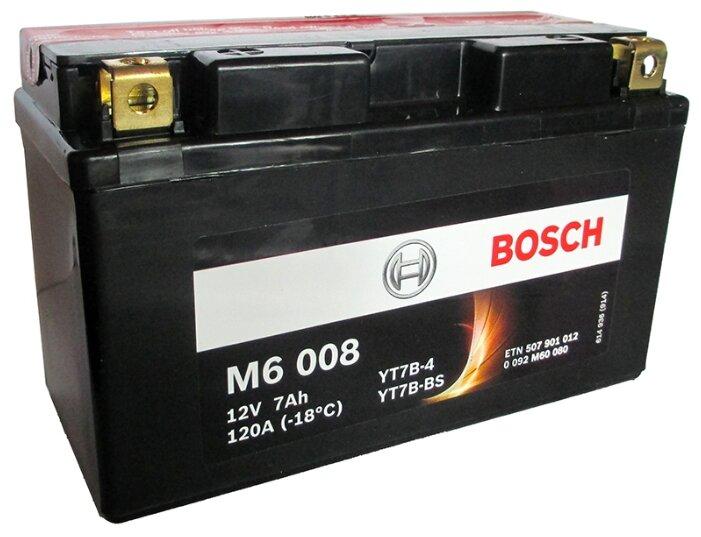 Мото аккумулятор Bosch M6 008 AGM (0 092 M60 080)