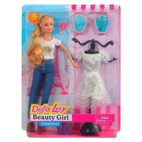 Купить Кукла детская для девочек Defa , Модница , в комплекте кукла, 7 аксессуаров, в/к 25*5.5*32.5 см, Куклы и пупсы