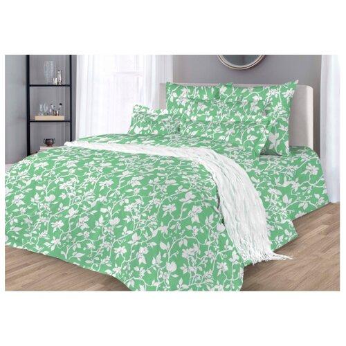 Постельное белье 2-спальное макси Guten Morgen 775/2 70х70 см, поплин зеленый одеяло guten morgen поплин 140х205 см