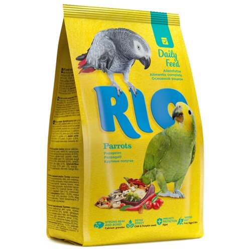 RIO корм Daily feed для крупных попугаев 1000 г rio корм daily feed для крупных попугаев 500 г