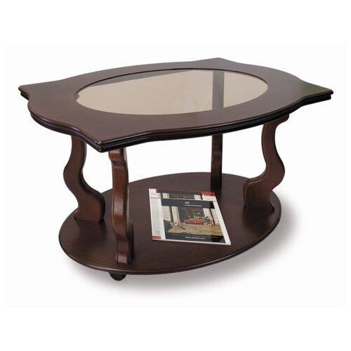 Фото - Столик журнальный Мебелик Берже 3С, ДхШ: 94 х 60 см, темно-коричневый подставка мебелик берже 14 темно коричневый