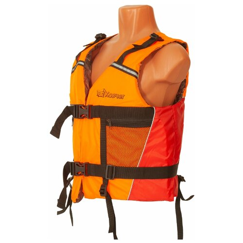 Спасательный жилет Ковчег Модель №1 (Тритон) оранжево-красный/камуфляж M/L 70 кг