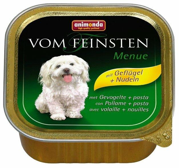 Корм для собак Animonda Vom Feinsten домашняя птица с пастой 22шт. х 150г