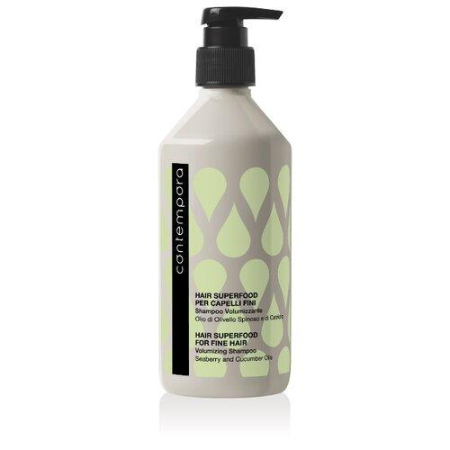 Barex шампунь Contempora Fine Hair Volumizing Shampoo для придания объема с маслом облепихи и огуречным маслом, 500 мл joico шампунь joifull volumizing для придания объема 300 мл