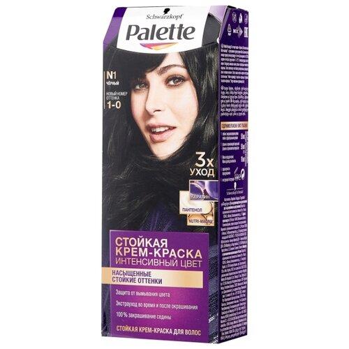 Palette Интенсивный цвет Стойкая крем-краска для волос, N1 1-0 Чёрный