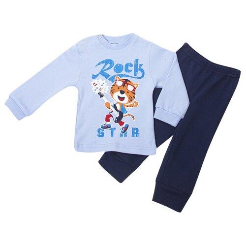 Купить Комплект одежды M&D размер 74, голубой, Комплекты