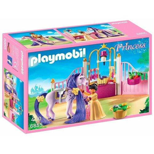 цена на Набор с элементами конструктора Playmobil Princess 6855 Королевская конюшня